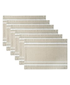 Chambray French Stripe Placemat, Set of 6