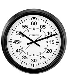 Gallery Black indoor/Outdoor Wall Clock