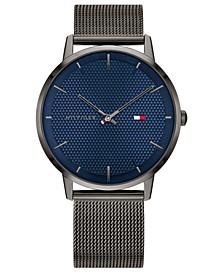 Men's Gray Stainless Steel Mesh Bracelet Watch 40mm, Created For Macy's