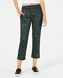 Cropped Printed Track Pants