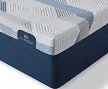 i-Comfort by Serta BLUE 100CT 9.75'' Gentle Firm Mattress Set- Twin XL
