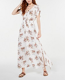 Juniors' Tulip-Sleeve Maxi Dress, Created for Macy's