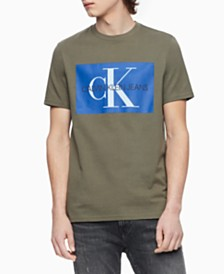 Calvin Klein Jeans Men's Monogram Logo-Print T-Shirt, Created for Macy's