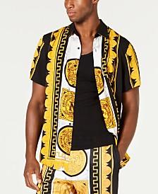 Reason Men's Marble & Gold Shirt