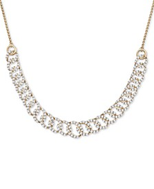 "Diamond Oval-Link 20""-24"" Statement Necklace (2 ct. t.w.) in 14k Gold, Created for Macy's"