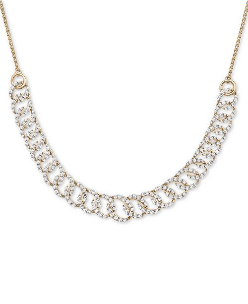 """Wrapped in Love Diamond Oval-Link 20""""-24"""" Statement Necklace (2 ct. t.w.) in 14k Gold, Created for Macy's"""