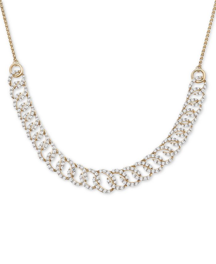 """Wrapped in Love - Diamond Oval-Link 20""""-24"""" Statement Necklace (2 ct. t.w.) in 14k Gold"""