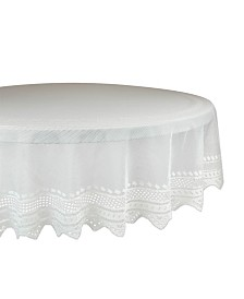 "Design Imports Nordic Lace Tablecloth 70"" Round"