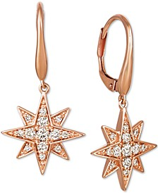 Nude Diamonds™ Celestial Star Drop Earrings (3/8 ct. t.w.) in 14k Rose Gold