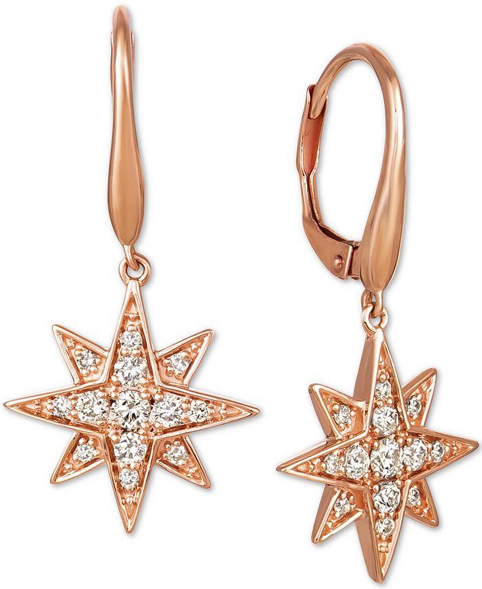 Le Vian - Nude Diamonds™ Celestial Star Drop Earrings (3/8 ct. t.w.) in 14k Rose Gold