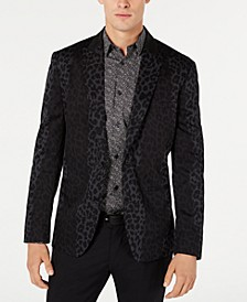 INC Men's Slim-Fit Leopard Print Blazer, Created for Macy's