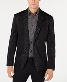 I.N.C. Men's Slim-Fit Leopard Print Blazer, Created for Macy's