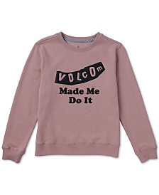 Volcom Big Girls Fleece Sweatshirt