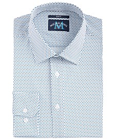 Michelsons of London Men's Slim-Fit Performance Stretch Diamond Dot Dress Shirt