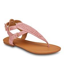 Olivia Miller Brava Buckle Strap Sandals