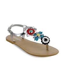 Olivia Miller Ocala Multi Floral Sandals
