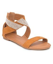 Labelle Multi Rhinestone Strap Sandals