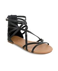 Olivia Miller Largo Multi Strap Buckle Sandals