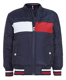 Tommy Hilfiger Little Boys Colorblocked Flag Bomber Jacket