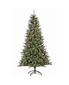 7.5Ft. Pre-Lit Mixed Needle Glazier Pine with Iced Tips and 500 Clear Lights