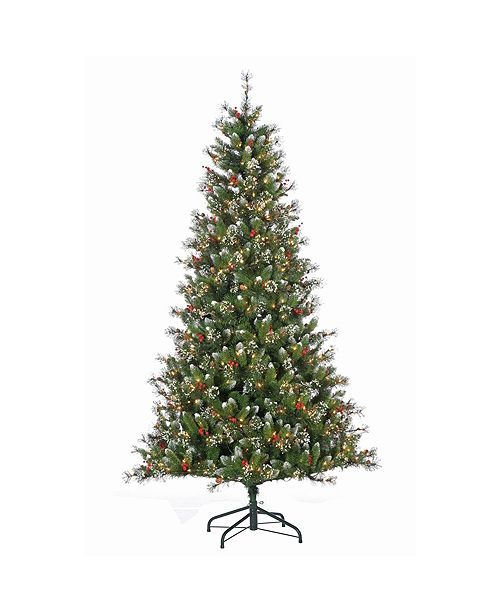 Sterling 7.5Ft. Pre-Lit Mixed Needle Glazier Pine with Iced Tips and 500 Clear Lights
