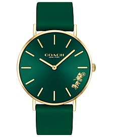 Women's Perry Green Leather Strap Watch 36mm