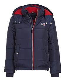 Toddler Boys Detachable Hood Puffer Jacket