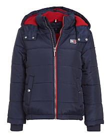 Tommy Hilfiger Big Boys Detachable Hood Puffer Jacket