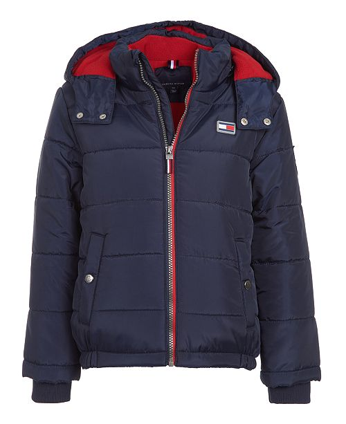 Tommy Hilfiger Big Boys Detachable Hood Puffer Jacket