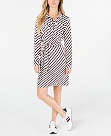 Bias-Striped Shirtdress, Created for Macy's