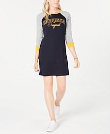 Raglan-Sleeve Cotton T-Shirt Dress