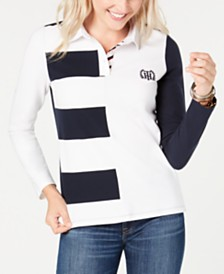 Tommy Hilfiger Colorblocked Rugby Top, Created for Macy's