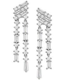 Swarovski Zirconia Drop Earrings in Sterling Silver
