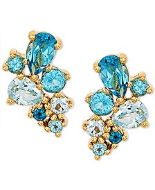 Blue Topaz Drop Earrings (1-3/8 ct. t.w.) in 14k Gold
