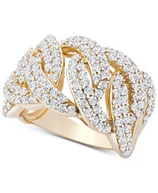 Wrapped in Love™ Diamond Statement Ring (2 ct. t.w.) in 14k Gold, Created for Macy's