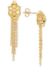 Effy Oro by EFFY® Panther Tassel Drop Earrings in 14k Gold