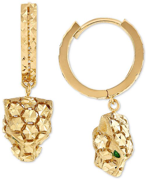 EFFY Collection Effy Oro by EFFY® Panther Hoop Earrings in 14k Gold