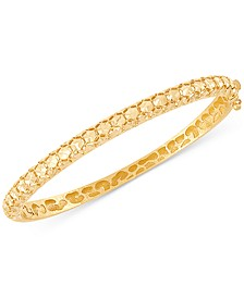 Effy Oro by EFFY® Bead-Pattern Bangle Bracelet in 14k Gold