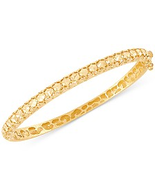 Effy Oro by EFFY® Bead-Pattern Bangle Bracelet in 14k Gold