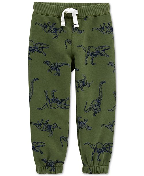 Carter's Toddler Boys Dinosaur-Print Fleece Pants
