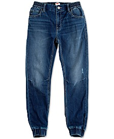Levi's® Big Boys Slim Tapered-Fit Stretch Distressed Dobby Joggers