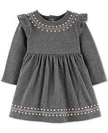 Carter's Baby Girls Heart-Print Ruffled Cotton Dress