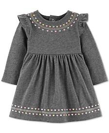 Carter's Baby Girls Heart-Print Ruffled Cotton Dress