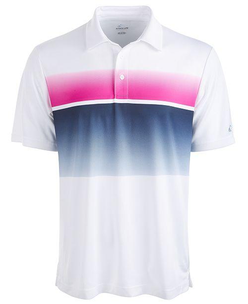 Greg Norman Men's Horizon Printed Golf Polo Shirt