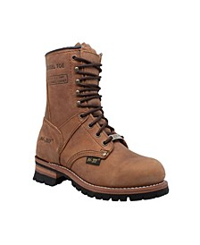 "Women's 9"" Steel Toe Logger Boot"