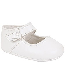 Baby Girl Lambskin One-Strap with Heart Overlay
