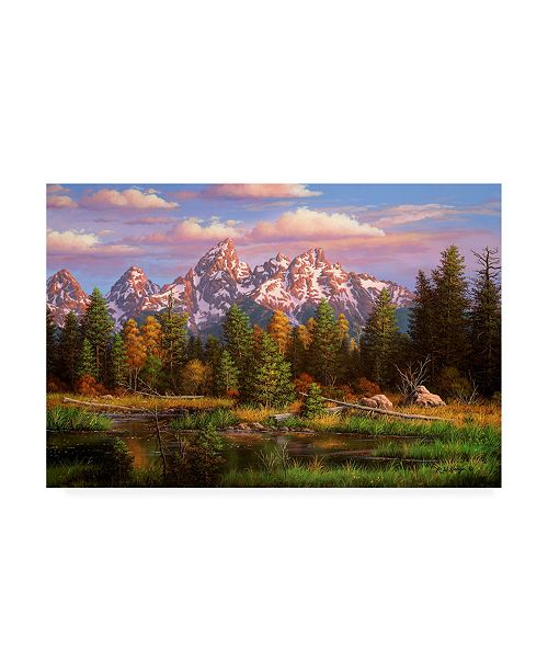 "Trademark Global R W Hedge Harmonious Retreat Canvas Art - 19.5"" x 26"""