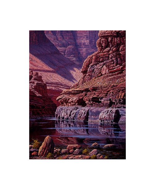 """Trademark Global R W Hedge Reflections of Marble Canvas Art - 15.5"""" x 21"""""""