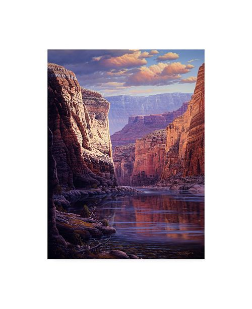 """Trademark Global R W Hedge River Through the Past Canvas Art - 36.5"""" x 48"""""""