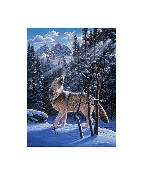"""Trademark Global R W Hedge In the Still of the Tetons Canvas Art - 19.5"""" x 26"""""""